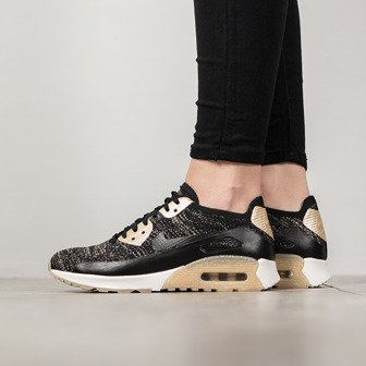 Damen Schuhe sneakers Nike Air Max 90 Ultra 2.0 Flyknit Metallic Gold 881563 001