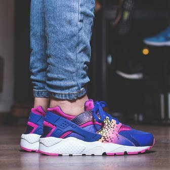 Damen Schuhe sneakers Nike Huarache Run Print (GS) 704946 500
