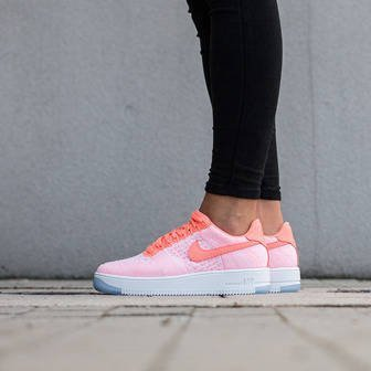 Damen Schuhe sneakers Nike W Air Force 1 Flyknit Low 820256 600