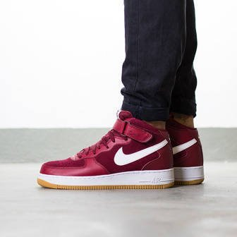 "Herren Schuhe sneakers Nike Air Force 1 Mid '07 ""Team Red"" 315123 608"
