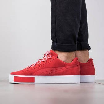 "Herren Schuhe sneakers Puma Court Platform Suede x Daily Paper ""High Risk Red"" 363266 01"
