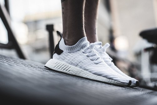 "Herren Schuhe sneakers adidas Originals NMD_R2 Primeknit ""Running White"" BY3015"