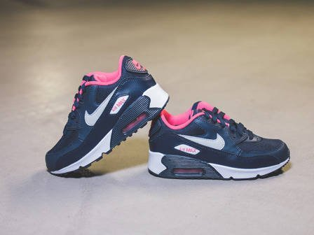 Kinder Schuhe sneakers Nike Air Max 90 Mesh (PS) 724856 400
