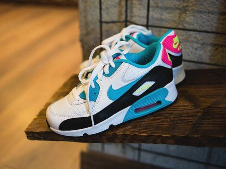 Kinder Schuhe sneakers Nike Air Max 90 Mesh (PS) 833341 104