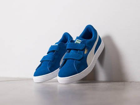 Kinder Schuhe sneakers Puma Suede 2 Straps 359595 02