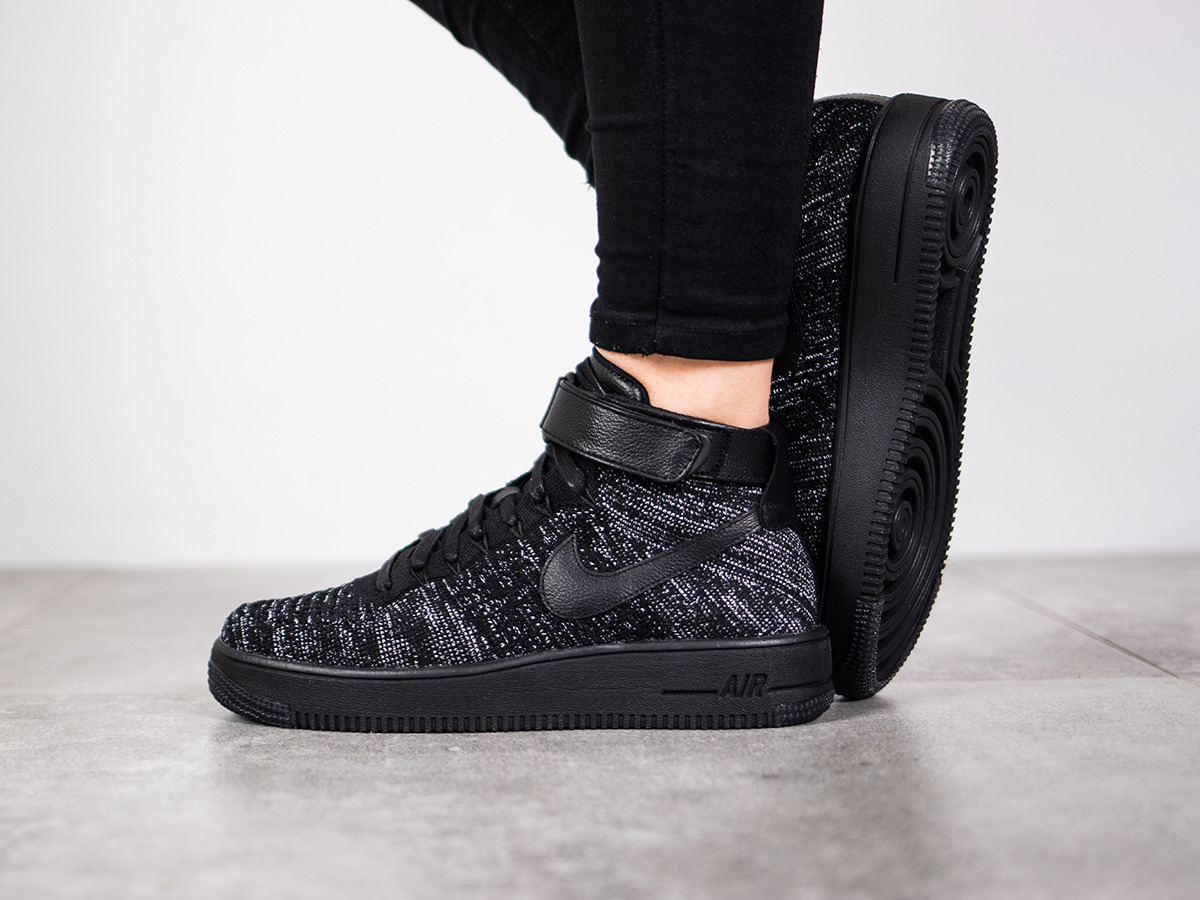 damen schuhe sneakers nike air force 1 flyknit 818018 002. Black Bedroom Furniture Sets. Home Design Ideas