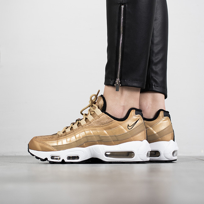 damen schuhe sneakers nike air max 95 metallic gold. Black Bedroom Furniture Sets. Home Design Ideas