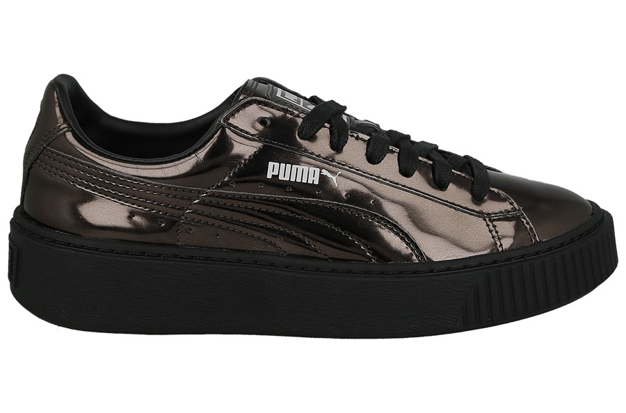 damen schuhe sneakers puma basket platform metallic black. Black Bedroom Furniture Sets. Home Design Ideas