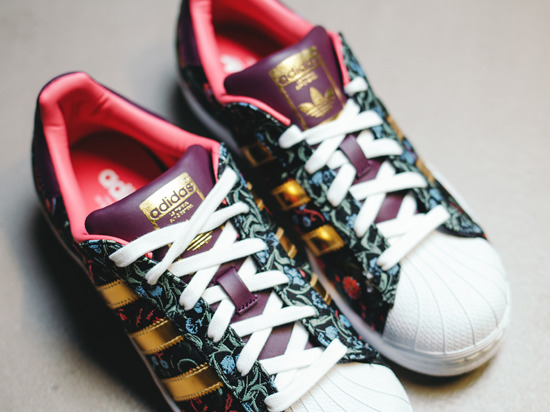 "DAMEN SCHUHE SNEAKERS Adidas Superstar ""Russian Bloom"" B35441"
