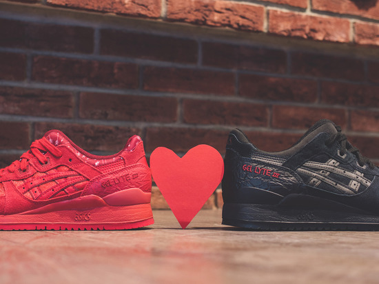 Damen Schuhe sneakers Asics Gel Lyte III Valentine's Day Pack H63SK 9090