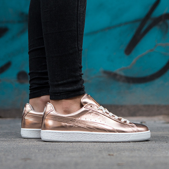 puma basket platform damen metallic