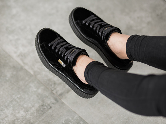 Puma Creepers Black Velvet gentle