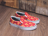 Kinder Schuhe sneakers Vans Classic Slip-On Pizza 4J2IFE