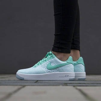 Damen Schuhe sneakers Nike Air Force 1 Flyknit Low 820256 300
