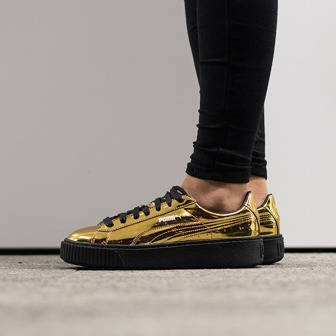 "Damen Schuhe sneakers Puma Basket Platform Metallic ""Gold"" 362339 04"
