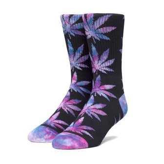 HUF Plantlife Tiedye Leaves Sock SK00433 BLACK