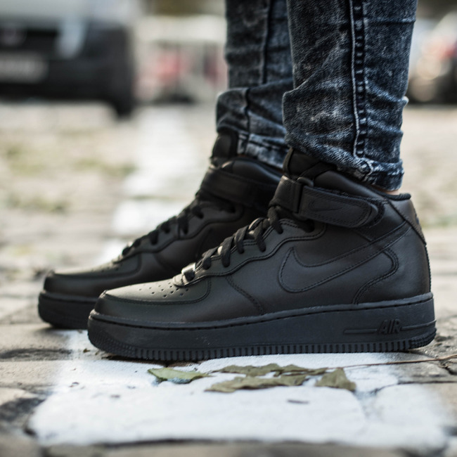 damen schuhe sneakers nike air force 1 mid 39 07 366731 001. Black Bedroom Furniture Sets. Home Design Ideas