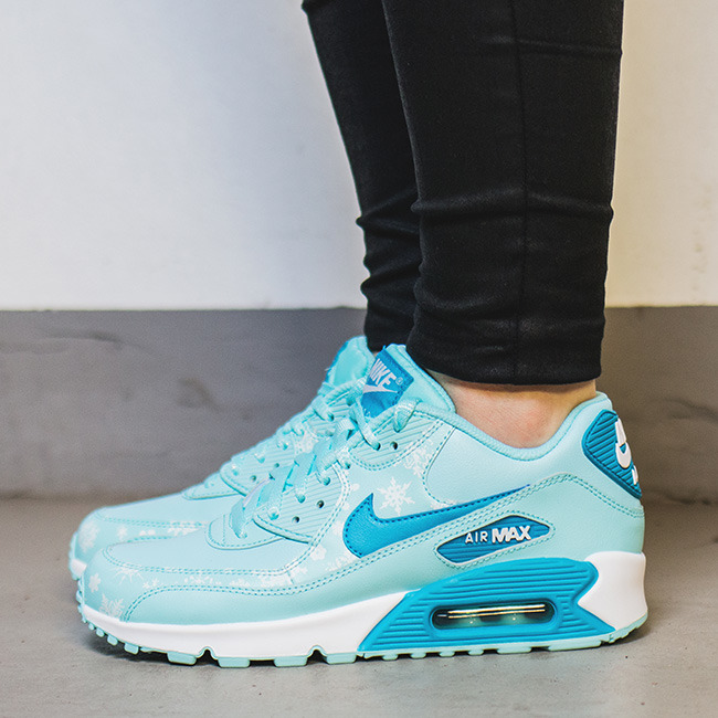 huge selection of 5969f 68789 ... DAMEN SCHUHE SNEAKERS Nike Air Max 90 Premium Leather (GS) 724871 400  ...