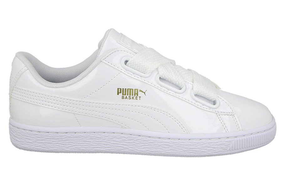 puma heart basket damen weiß