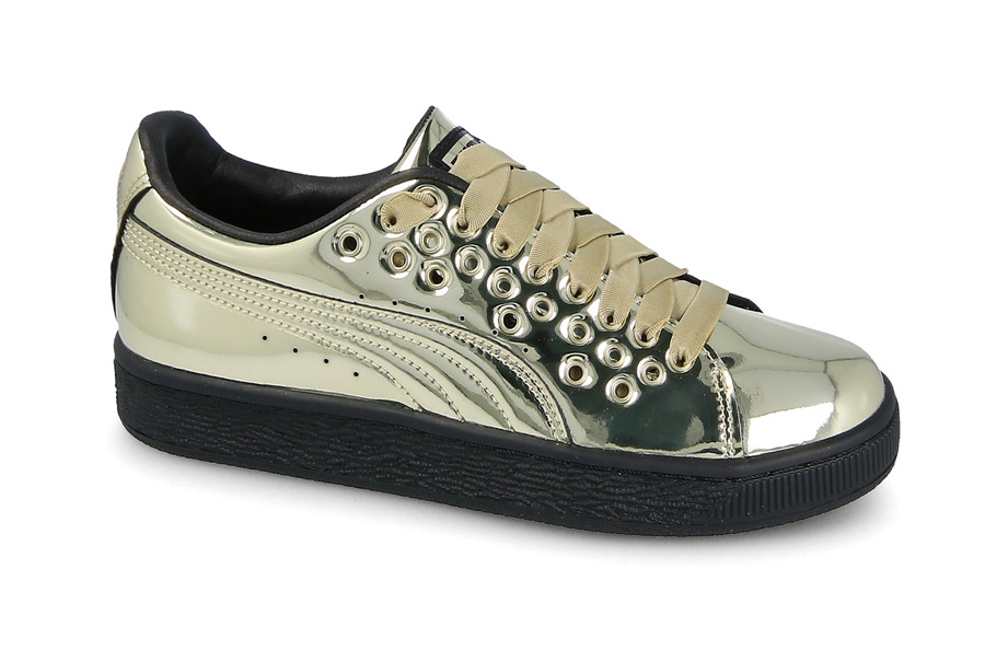 Damen Schuhe sneakers Puma Basket Xl Lace Metal 364536 03 - GOLDEN IhMC8