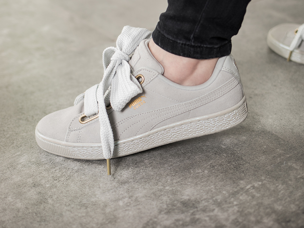 damen puma basket heart weiß