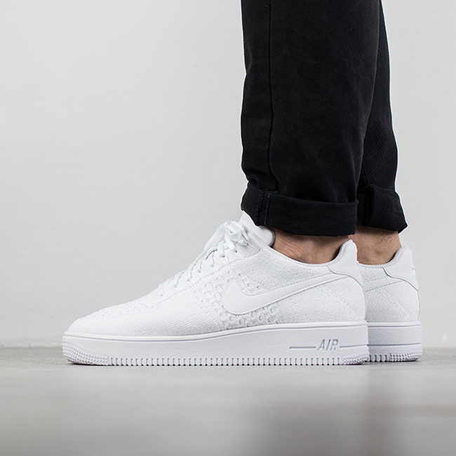 nike air force 1 flyknit low herren weiß
