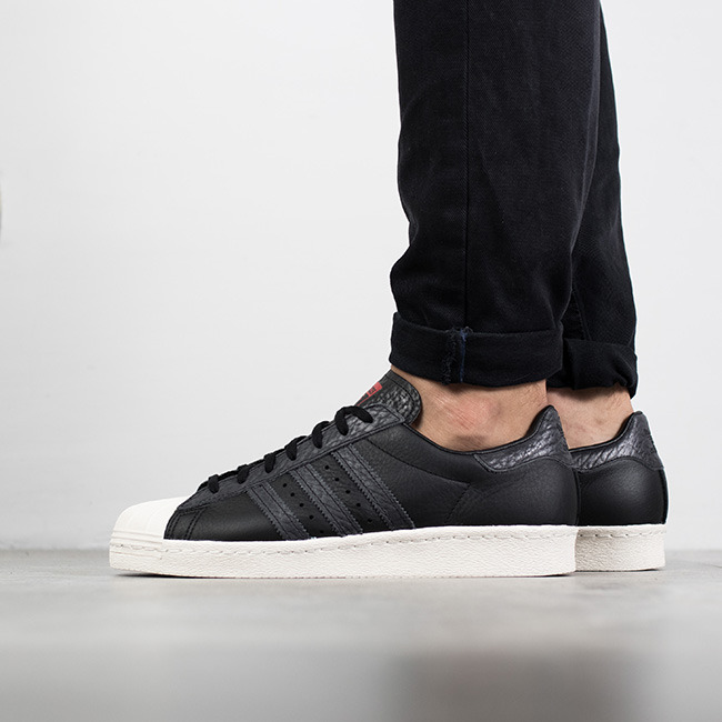 superstar adidas 80s core black
