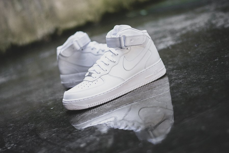 Nike Air Force Mid Grey,Nike Air Force 1 Mid Style,123 040