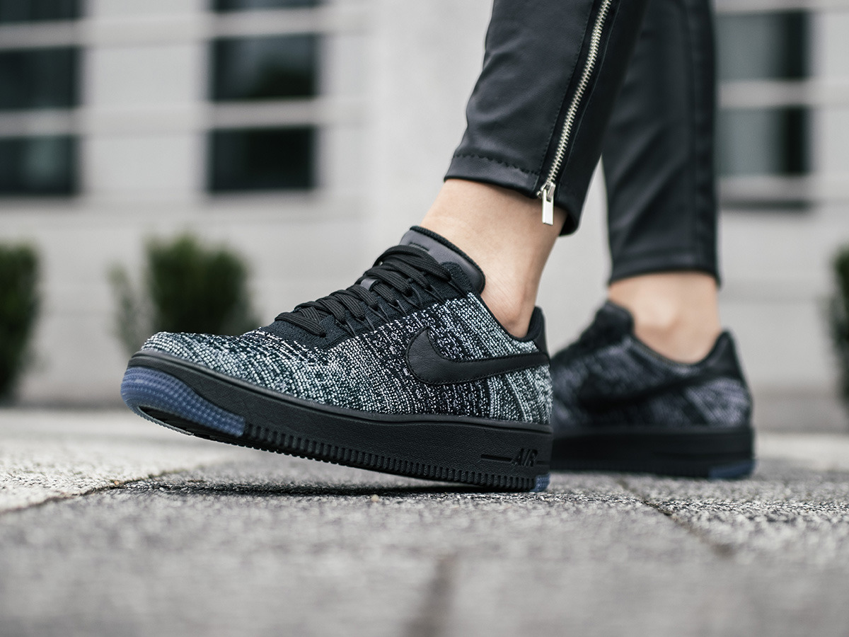 Nike Air Force 1 Flyknit Low 820256 007 | SCHWARZ | für 89