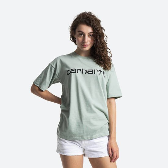 Carhartt WIP W' S/S Script T-Shirt I028442 FROSTED GREEN/BLACK