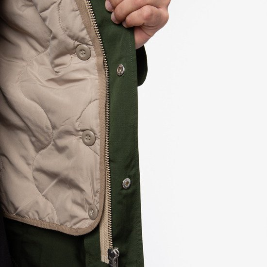 Wood Wood William Parka Coat 11935911-5199 DARK GREEN